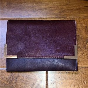 Burgundy bag / clutch
